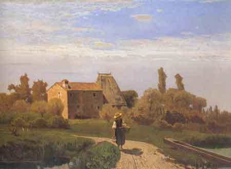 """Guglielmo Ciardi """"Mattino di maggio"""" (1869)"""