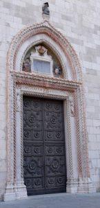 Cividale del Friuli Particoalre dell'ingresso al duomo