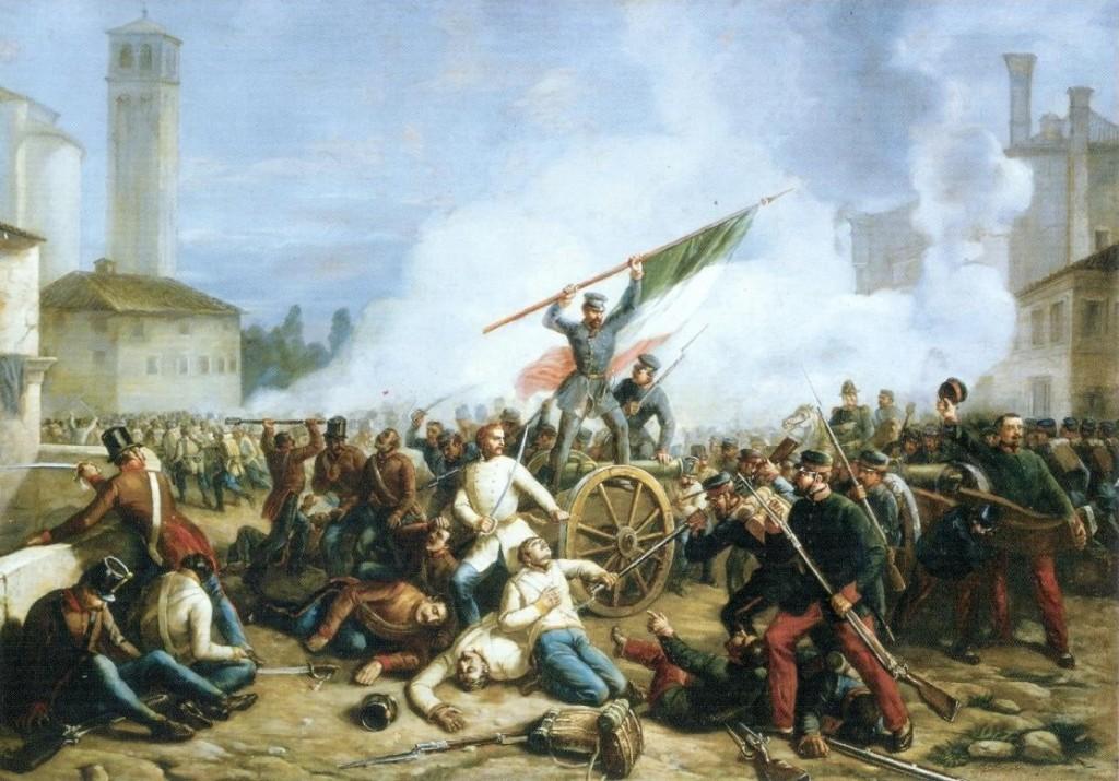 La battaglia della sortita in un dipinto del Giacomelli