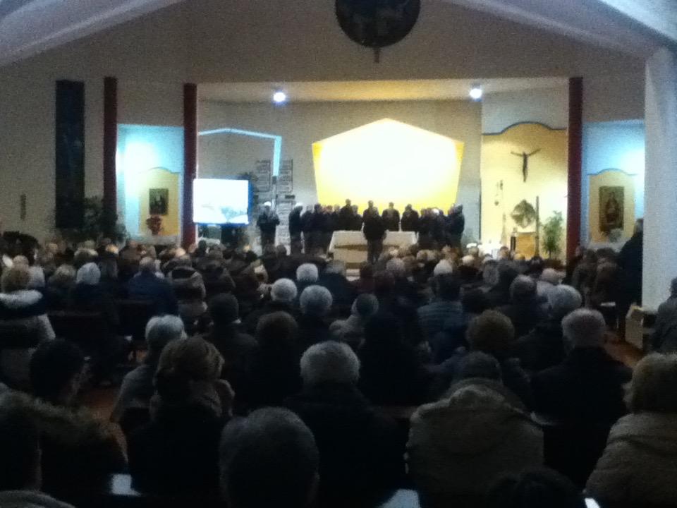 Chiesa di San Leopoldo Mandic. Concerto del Coro Marmolada del 11 feb 2017