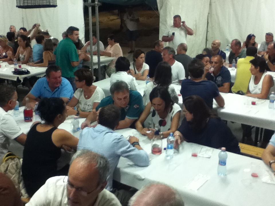 Cena collettiva dei festeggiamenti del 30° anno di gemellaggio fra le comunità di Loro Piceno e St. Nikolai