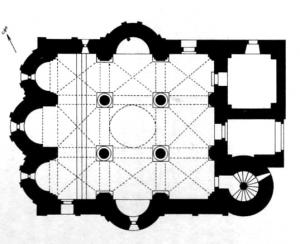 Planimetria della chiesa di San Vittore Sassoferrato