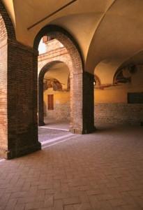 San Ginesio chiostro di Sant'Agostino