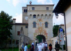 Sesto al Reghena ingresso al complesso dell'abbazia