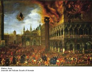 San Nicola spegne l'incendio del Palazzo Ducale di Venezia