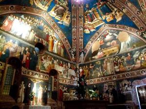 particolare della Cappella dedicata a San Nicola nella basilica di Tolentino originariamente intitolasta a San Giorgio.